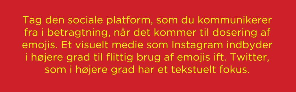 valg af platform på sociale medier